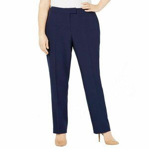 ANNE KLEIN Women's Plus Size Straight-leg Pants